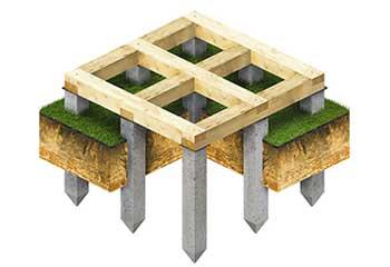 Сваи для деревянных, каркасных, каменных бань, гаражей и хозяйственных построек.